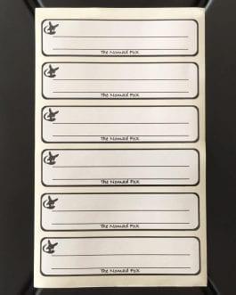Nomad Box Labels
